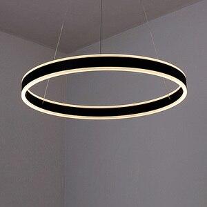 Image 3 - טבעות LED מודרני תליון אורות קבועה לחדר אוכל תליית מנורת בית מסעדה דקור השעיה חדר שינה Luminaire ברק