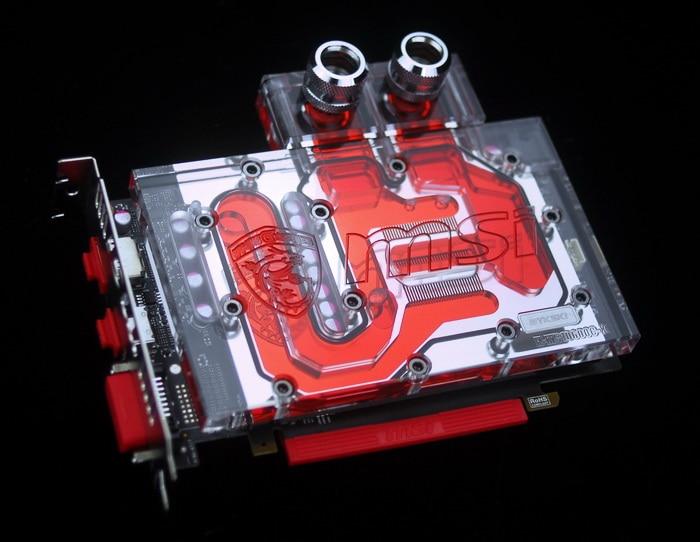 Bykski N-MS1060OC-X VGA Water Cooling Block for MSI GTX 1060 OC bykski n gv1060miv2 x vga water cooling block for msi gtx1060 ixoc wf2oc
