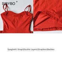 SIBYBO Double Layers Cotton Sexy Bodycon Dress Women Autumn Backless Slim Elastic Push Up Bandage Party Dresses Vestidos