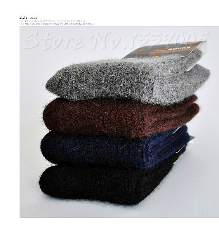 3x Men's Merino Wool Socks Warm Winter 28