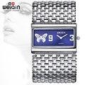 WEIQIN Silver Square Dial Bangle Watches Women Fashion Analog Quartz-watch Ladies Dress Bracelet Wrist Watch Hours Relogios 2016