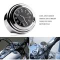 "Universal 7/8"" 1"" Chrome Motorcycle Handlebar Mount Quartz Clock for Harley Davidson Honda Yamaha Suzuki Kawasaki"