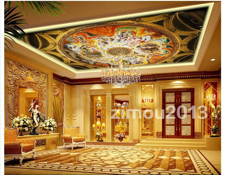 3d murals wallpaper custom ceiling dome zenith mural for Ceiling mural wallpaper