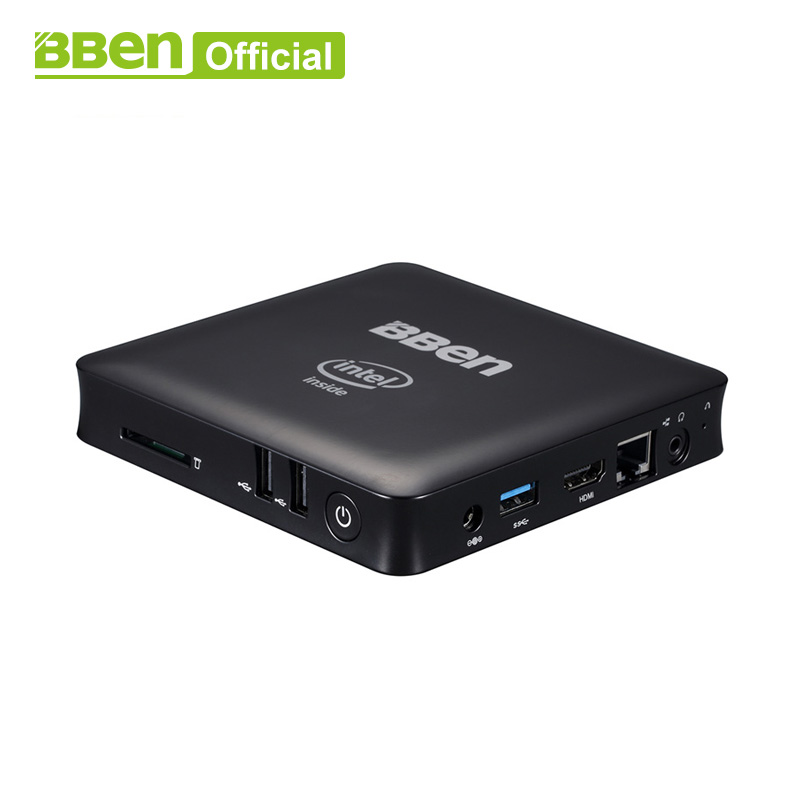 Bben Mini Computer Mn11 Z8350 Quad Core Mini PC Windows10 Lan TV box USB3.0 + 2.0 desktop di WIFI del computer scatola 2 gb/32 gb