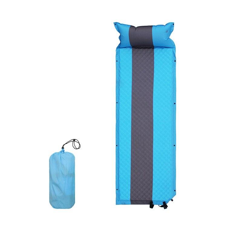 Matelas de lit auto-gonflant portatif extérieur de tapis de Camping avec le tapis gonflable léger de plage d'oreiller pour le voyage de randonnée