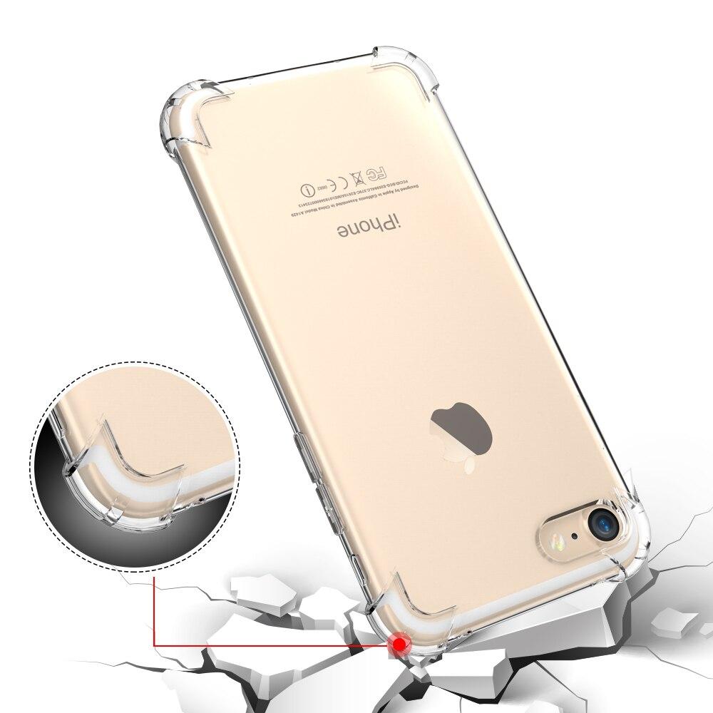 Floveme teléfono de silicona case para iphone 7 7 plus case ultra delgada de gel de silicona de protección cubierta posterior para iphone 7 clear case Capa