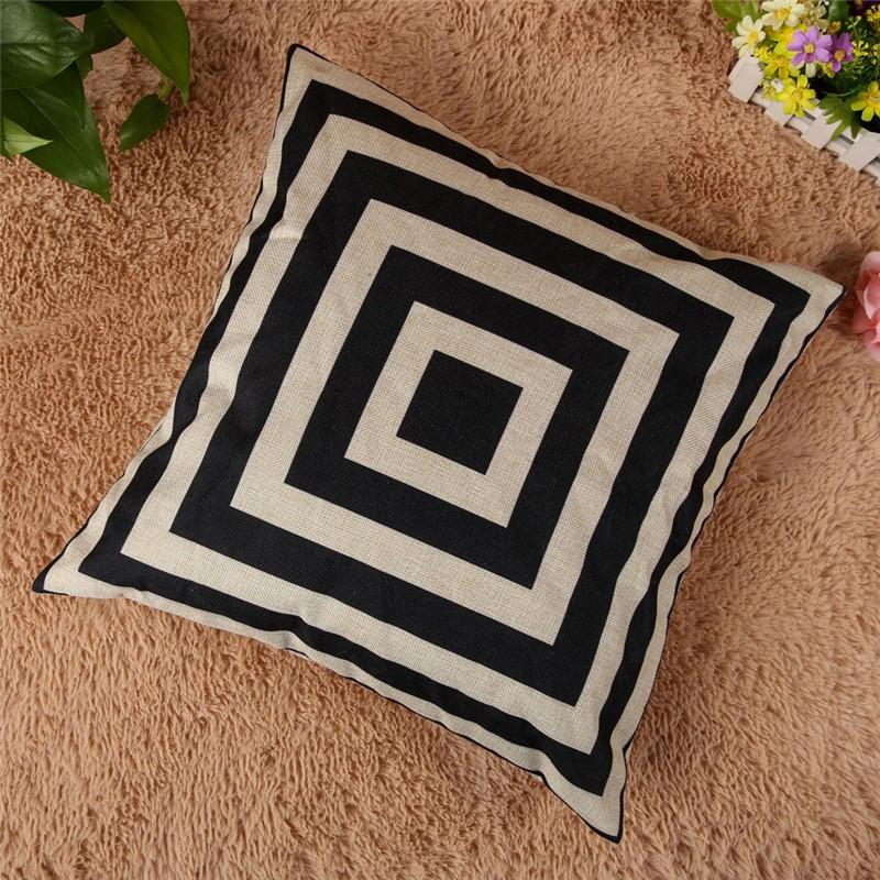 4 Types 45*45cm Vintage Fashion Cotton Linen Cushion Cover Throw Pillow Case Sofa Car Decor Cushion Cover 5