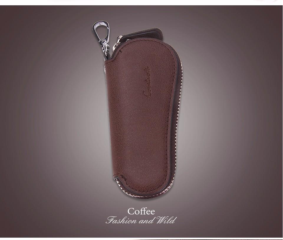 محفظة مفاتيح للرجال من الجلد الطبيعي 14