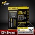100% original nitecore digicharger d2 lcd circuito inteligente li-ion 18650 14500 26650 10440 18350 aa aaa carregador de bateria de carro