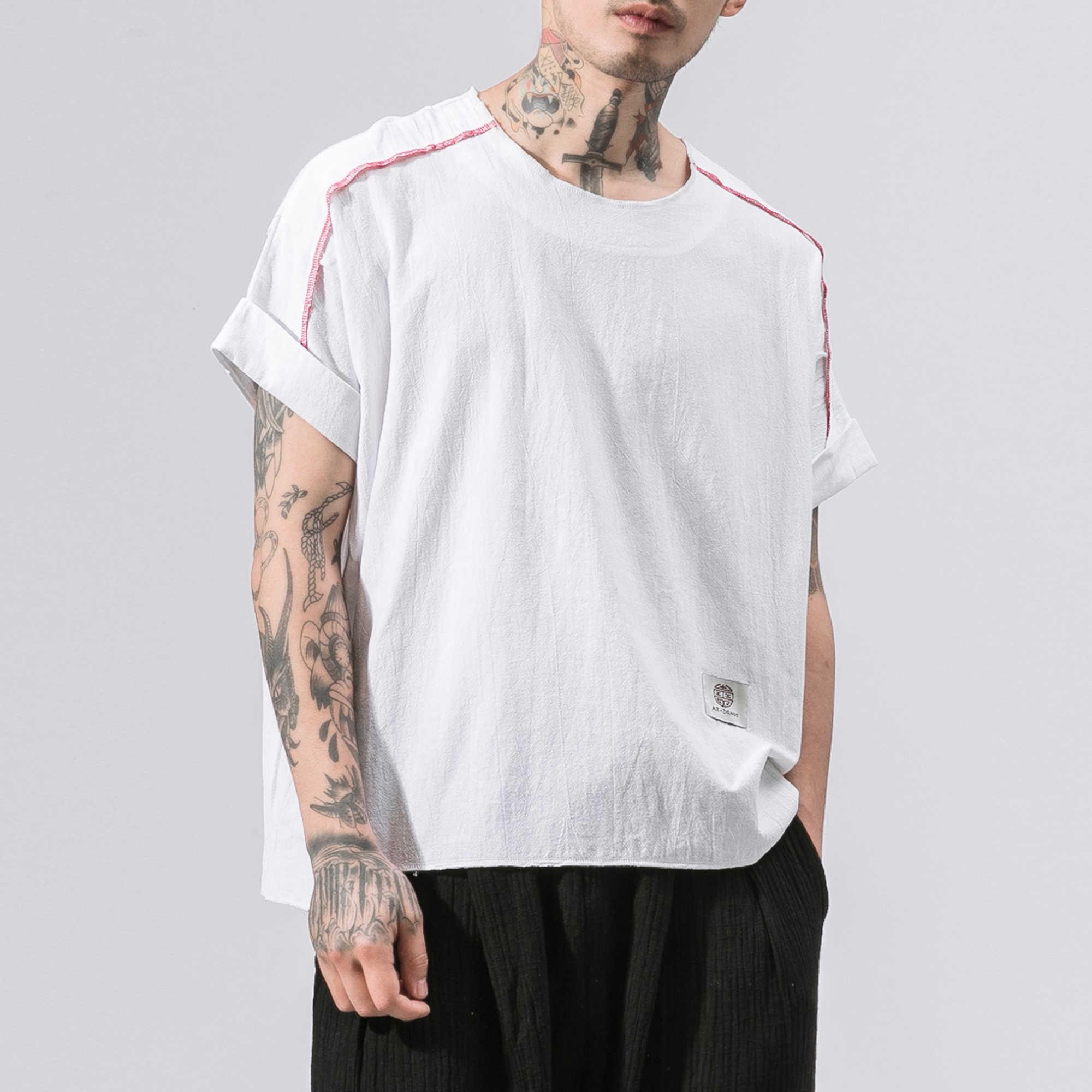 男性の夏のファッションコットン半袖 Tシャツプラスサイズ M-5XL 男性黒、白 Tシャツ