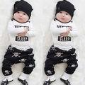 Crianças recém-nascidas Do Bebê Das Meninas Dos Meninos Roupas Encabeça Macacão Crânio Calças Roupas Set 0-18 M