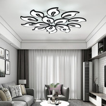 White Acrylic Modern LED Chandelier For Living Room Bedroom LED Lustres Large Ceiling Chandelier Lighting Fixtures AC85-260V(China)