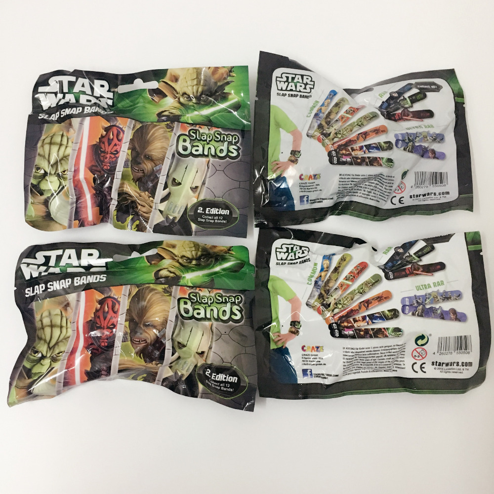 0pcs/lot starwars slap snap bands 22cm length boy toys random mixed
