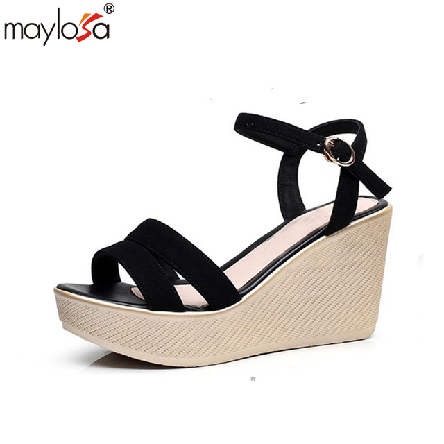 2018 Summer Fashion Women Wedge Sandals Casual Wedges High Heels Paltform Shoes for Lady Fishermen Sandal Wedge Chaussure Femme Ete footlocker online eastbay wz8iQics