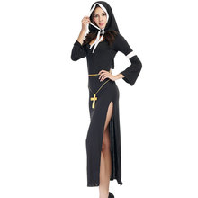 Halloween Costumes for Women The Virgin Mary Nun Costume Fantasia Adulto Cosplay Clothing Dress Headscarf Cross
