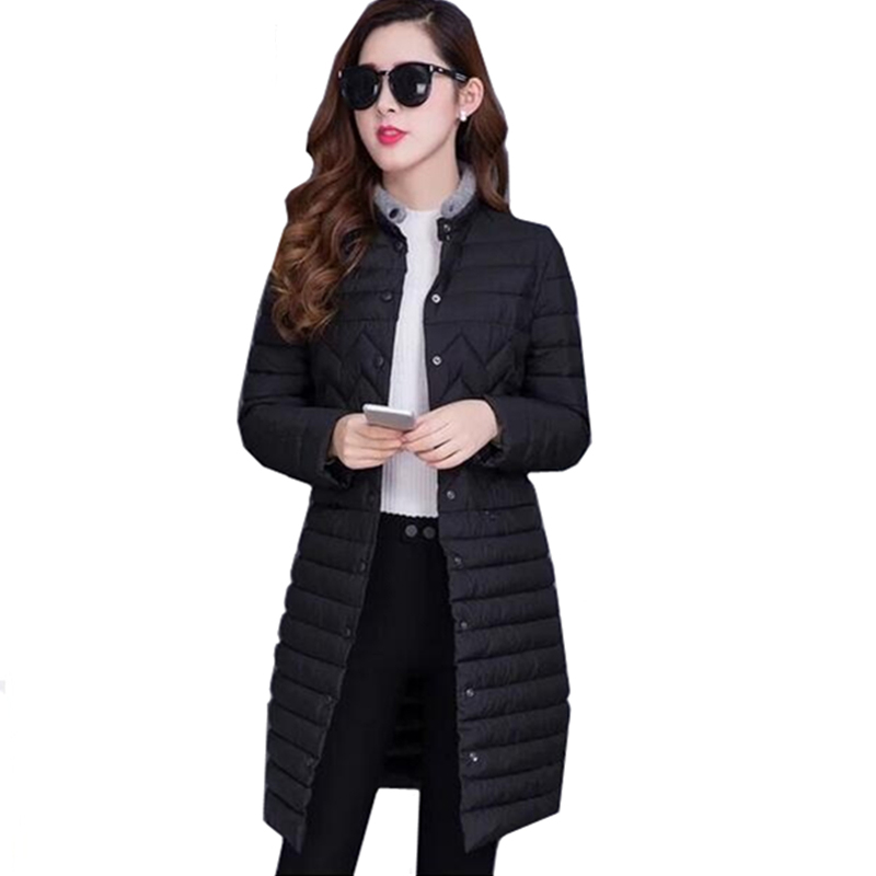 2017 New Women Down Cotton Coat Winter Jacket Slim Long Outwear Thin Parkas Warm Fashion High Quality Gift Overcoat FP0042 abner 2017 new winter loose long coat fashion women down cotton female warm parkas overcoat good quality free shipping
