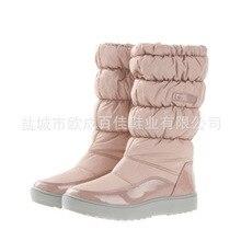 Haute Qualité Dans-Tube Bottes de Neige Imperméables à Fond Épais Plus La Taille 40 41 Chaussures Chaudes Femmes Hiver Femmes bottes