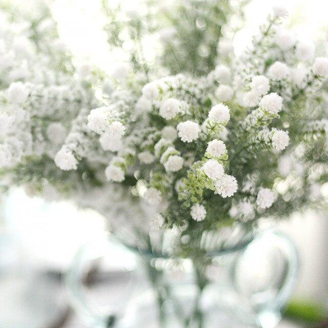 Image Fleur Noel.23 13 10 Pieces Givre Buisson Artificiel Bebe Souffle Soie Fleur Noel Ameublement Mariage Arrangement Floral Charges Livraison Gratuite Dans