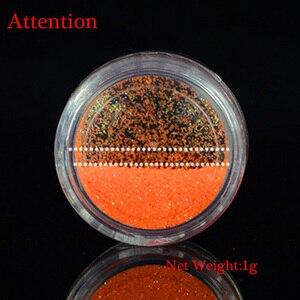 Image 5 - 1g Ultrafeinen Fluoreszierende Nagel Pulver Neon Phosphor Bunte Nail art Glitter Pigment 3D Glow Leucht Staub Dekorationen YS01 12 1