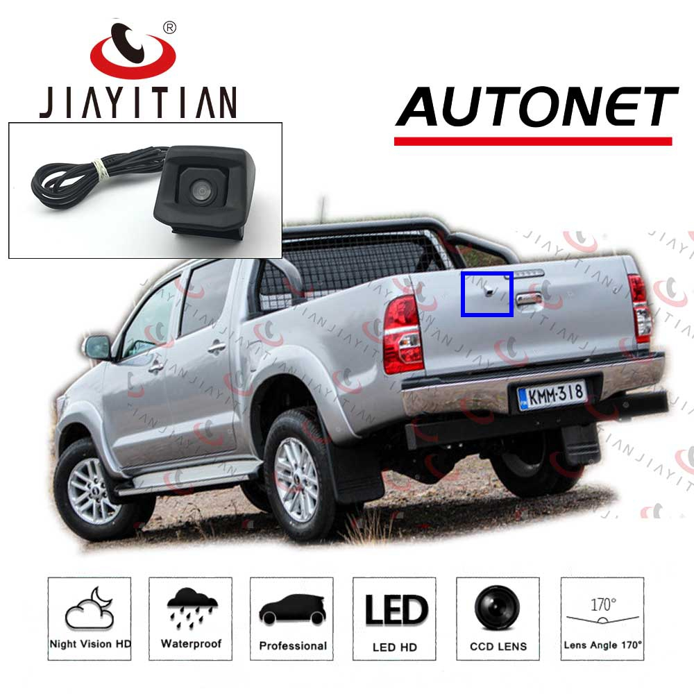 JIAYITIAN Rear View Camera For Toyota Hilux Vigo Pickup 2012 2013 2014 2015 2016 2017 CCD/backup Camera Reverse Hole OEM Camera