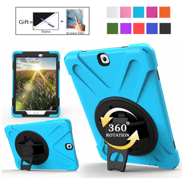Für Tab EINE SM T550 Kinder Safe Stoßfest Heavy Duty Silikon Hard Case Für Samsung Galaxy Tab EINE 9,7 T550 t555 Hand halten