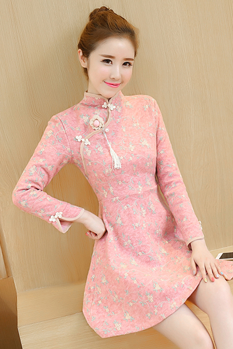 2018 summer women retro chinese traditional dress silk cotton ...