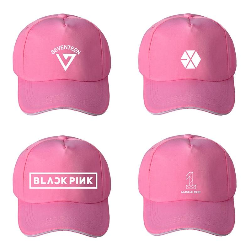 Exo Baseball Hat For Fans Women Blackpink Seventeen Outdoor Sun Hats Sunscreen Snapback Hat With Visors Men's Baseball Caps