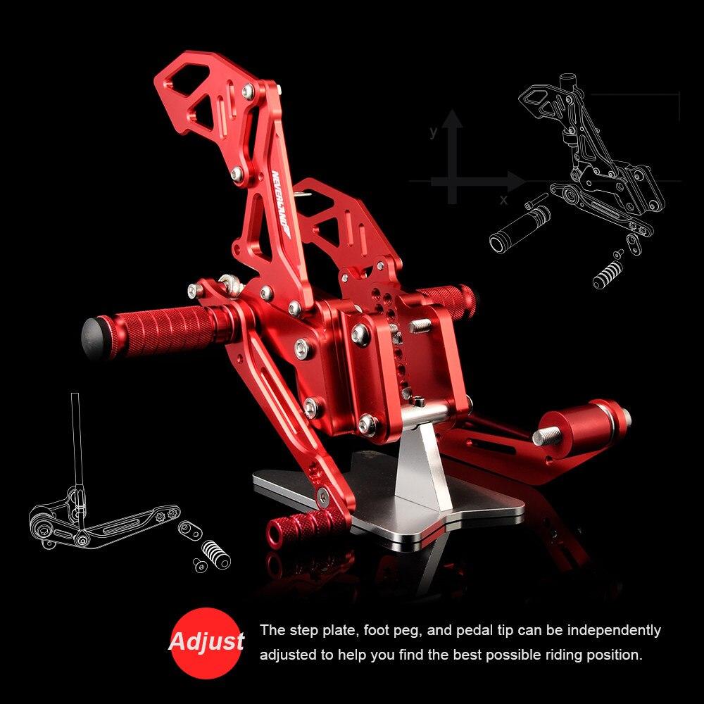 Neverland CNC montages pour siège arrière montage pour siège arrière repose-pieds repose-pieds Chevilles Pour Suzuki GSXR600 GSXR750 2006 2007 2008 2009 2010 - 4
