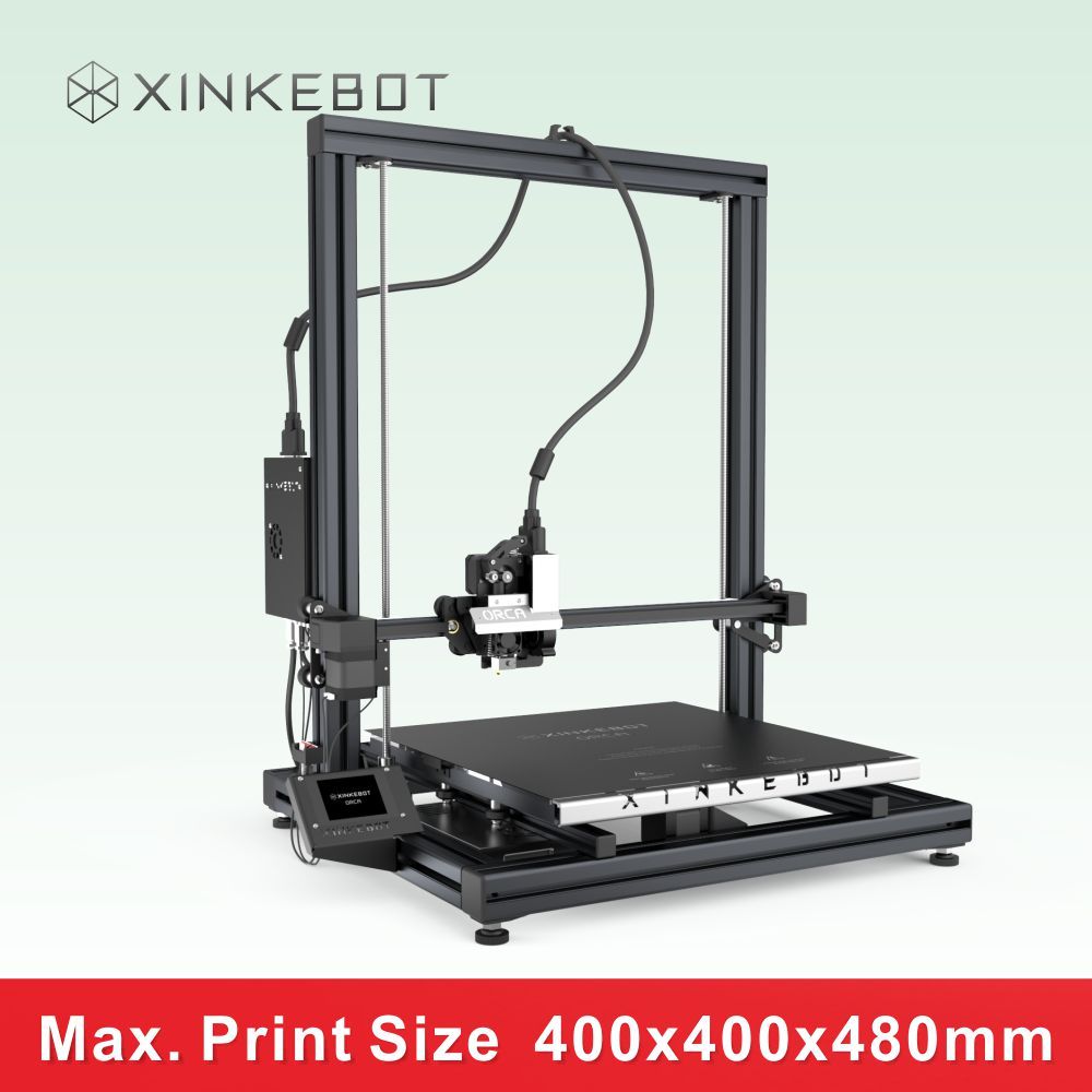 XINKEBOT ORCA2 Cygnus Desktop 3D Printer with Super Flat 4mm Borosilicate Heat resisting Glass for Heated