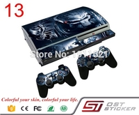 OSTSTICKER 1Set Vinyl Decal Skin Sticker for PS3 fat Console Skins+2PCS Stickers for PS3 fat Controller Joystick Gampad