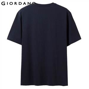 Image 3 - Giordano Мужская футболка, мужские футболки с округлым вырезом, с контрастным принтом, с буквенным принтом, мужские модные тренды с коротким рукавом, мужская одежда