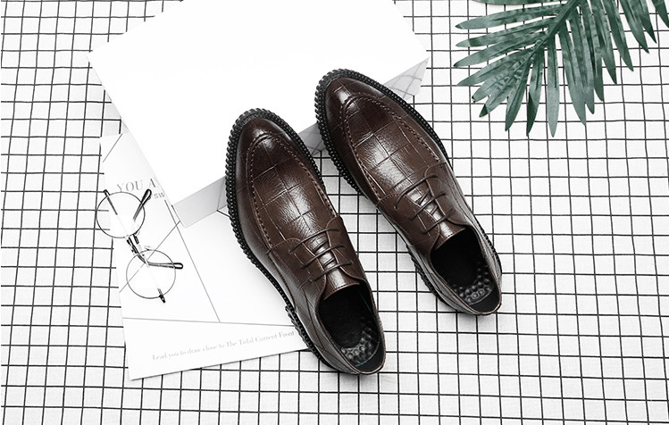 men pointed toes leather shoes male youth bottom thick lace up england style leather business casual breathable dress shoes men pointed toes leather shoes male youth bottom thick lace up england style leather business casual breathable dress shoes