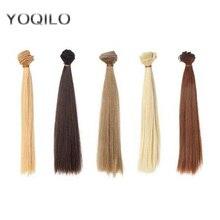 12PCS/LOT Doll Accessories Synthetic Fiber DIY BJD Wig Hair Doll 25CM