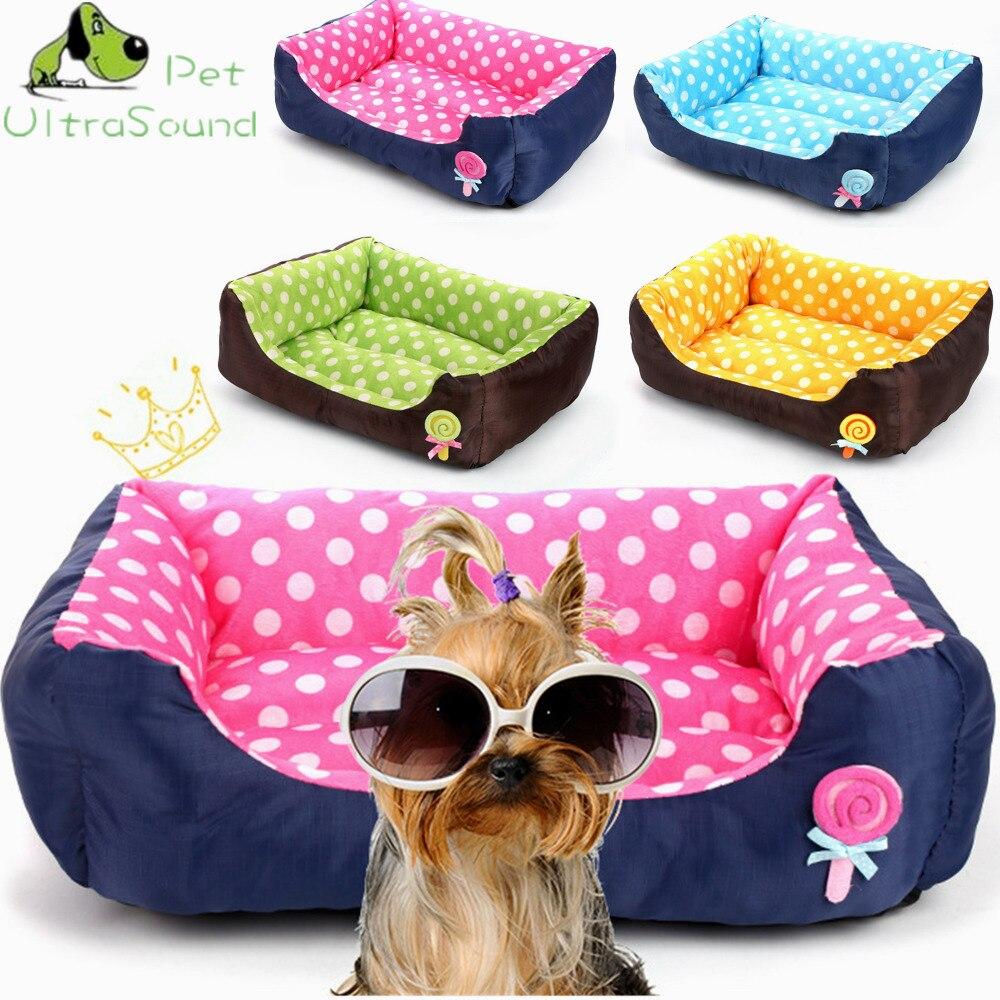 ULTRASOUND PET All Seasons Small Medium Size Extra Pet Dog Bed House Sofa Kennel Soft Dots Fleece Pet Dog Cat Warm Bed S M L 1