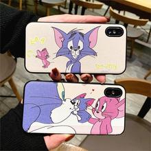 Cute 3D Relief Funda Cartoon Tom Jerry Phone Case for iphone 7 8 Plus 6 6s 10 X XS Max Xr Cover Soft TPU Luxury Capa for Coque ид бурда автомир 27 2014