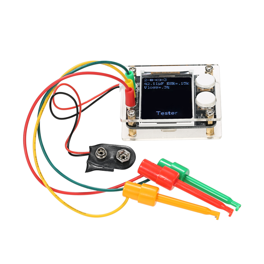 Multifunctional 18 Tft Lcd Geekteches Mk328 Transistor Tester Good Bad 1 3 Test Clips User Manualenglish