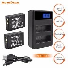 цена на 2Pcs LPE17 LP E17 LP-E17 Battery+LCD USB Dual Charger for Canon EOS 200D M3 M6 750D 760D T6i T6s 800D 8000D Kiss X8i Cameras L10