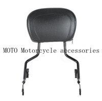 Motor Black Sissy Bar Upright Passenger Backrest W Pad Seat For Harley Touring Street Glide Road