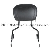 Motor Black Sissy Bar Upright Passenger Backrest W Pad Seat For Harley Touring Street Glide Road