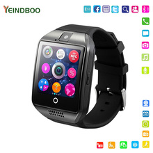 YEINDBOO Bluetooth Smart Watch Q18 With Camera Facebook Whatsapp Twitter Sync SMS Smartwatch Support SIM TF Card For IOS Android