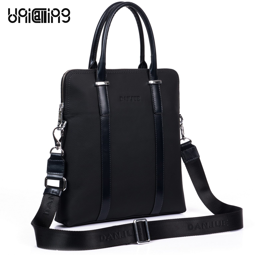 UniCalling men bag vertical noble black business handbag messenger bag fashion leisure man bag leather men crossbody bag unicalling denim