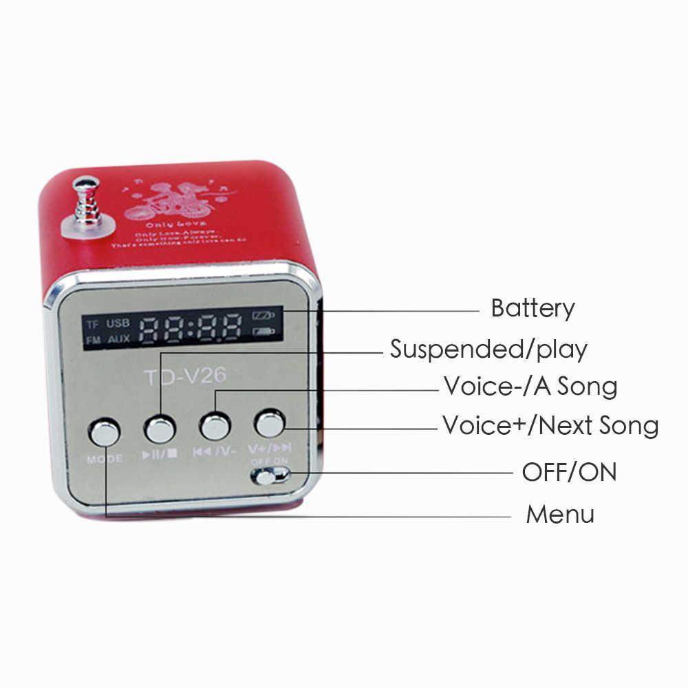 Vapeonly głośnik radiowym fm przenośne mini usb głośniki stereo cyfrowy LCD odtwarzacz muzyczny obsługuje karty TF głośnik do komputera telefonu