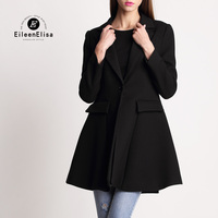 Runway Coat Woman Winter Brand Luxury Coats 2017 Black Jacket