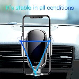 Image 5 - Baseus Giá Đỡ Điện Thoại Ô Tô Trọng Lực Gắn Cho Iphone X XS 11 8 Plus Samsung S9 S8 Đứng Không Khí đầu ra giá Đỡ điện thoại