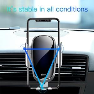Image 5 - Baseus自動車電話ホルダー重力iphone x xs 11 8 プラスサムスンs9 s8 スタンド空気出口電話ホルダー