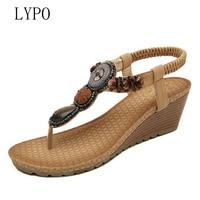 Summer Women Sandals Bohemian Style Wedges Women S Shoes Hand Beaded Gladiator Sandals Women