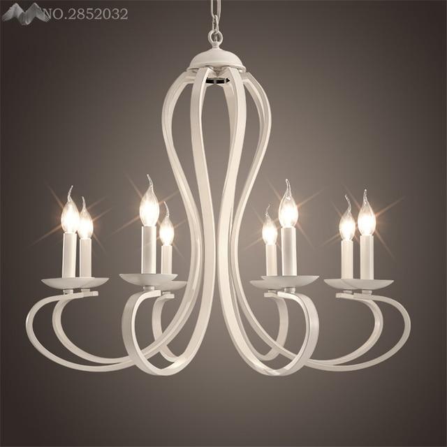 2017 Nuovo Stile Europeo Bianco Lampadari Moderni Lampadari LED ...
