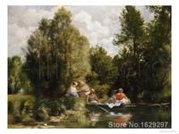 oil reproductions canvas The Pond at Fees by Pierre Auguste Renoir Landscape art Hand painted High quality