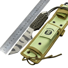 57HRC Strider Blade Fixed Knife Tactical Knife 440C Straight Outdoor Camping Survival knife Camouflage Army knife