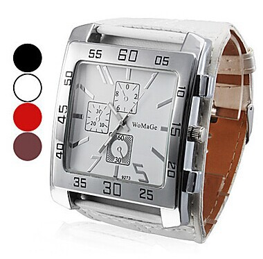 Foreign watch wholesale three eyes decoration Square watch men and women Unisex watch belt watch manufacturers аккумулятор для легкового автомобиля exide 65ач classic ec652 об